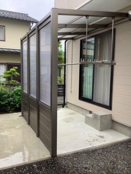 サイドオープンテラスで風 光 採り込み 雨雪は防ぐ 開放的な空間 テラス工事