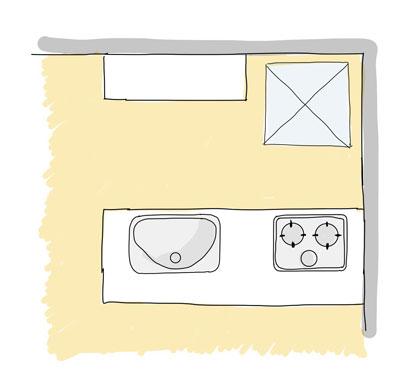 ペニンシュラ型対面キッチン
