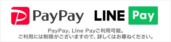 PayPay、LinePayご利用可能。