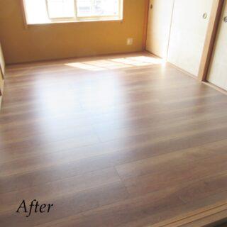 ヨネダリフォーム  施工事例 内装工事 畳をフローリングにリフォーム 和室を洋室に変更。 畳はカビやダニが発生しやすいので、掃除もしやすく、清潔な空間を保ちやすくなります。  #和室を洋室に  #畳をフローリングに #和室をフローリングに  #内装工事  #和室を洋室にリフォーム  #掃除しやすい家づくり  #福知山リフォーム  #丹波市リフォーム  #丹波篠山市リフォーム  #綾部市リフォーム  #ヨネダリフォーム  #施工事例